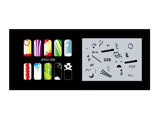 Šablona na nechty (airbrush nail art) Fengda  JFH12-229
