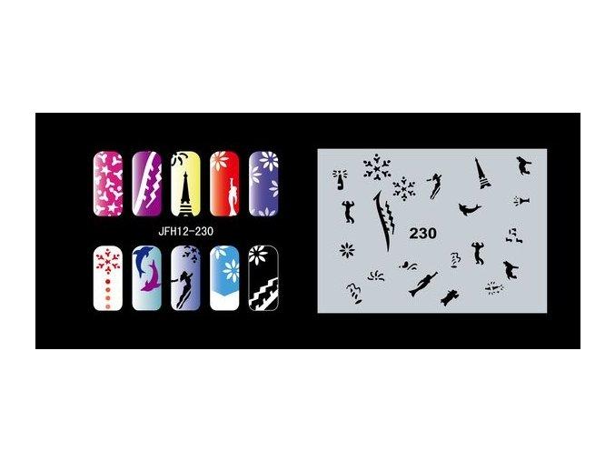 Šablona na nechty (airbrush nail art) Fengda  JFH12-230