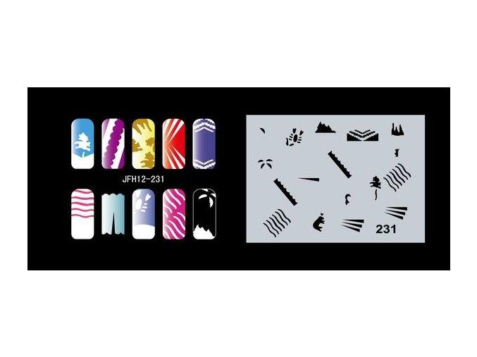 Šablona na nechty (airbrush nail art) Fengda  JFH12-231