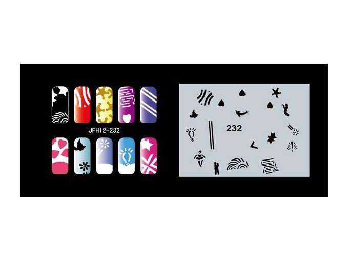 Šablona na nechty (airbrush nail art) Fengda  JFH12-232
