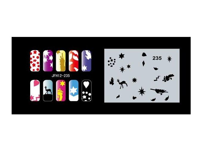 Šablona na nechty (airbrush nail art) Fengda  JFH12-235