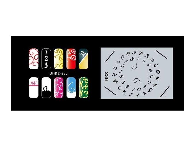 Šablona na nechty (airbrush nail art) Fengda  JFH12-236