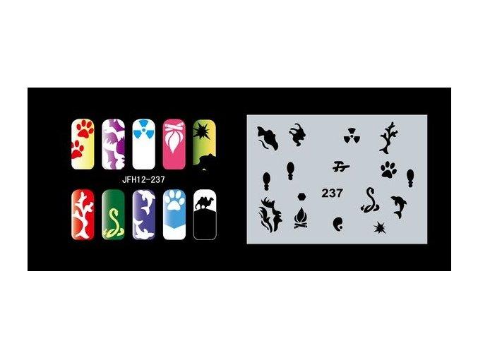 Šablona na nechty (airbrush nail art) Fengda  JFH12-237