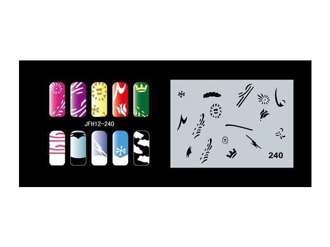 Šablona na nechty (airbrush nail art) Fengda  JFH12-240