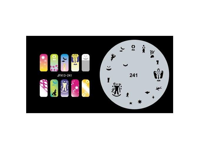 Šablona na nechty (airbrush nail art) Fengda  JFH13-241