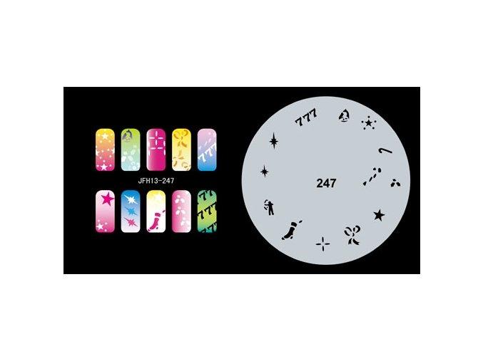 Šablona na nechty (airbrush nail art) Fengda  JFH13-247