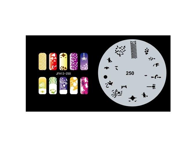 Šablona na nechty (airbrush nail art) Fengda  JFH13-250