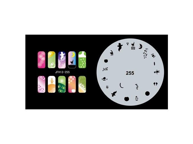 Šablona na nechty (airbrush nail art) Fengda  JFH13-255