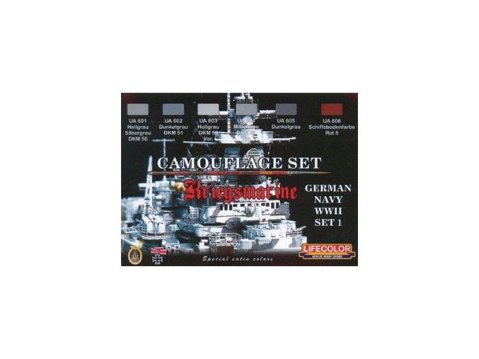 Set kamuflážnych farieb LifeColor CS09 GERMAN NAVY WWII SET1 Kriegsmarine