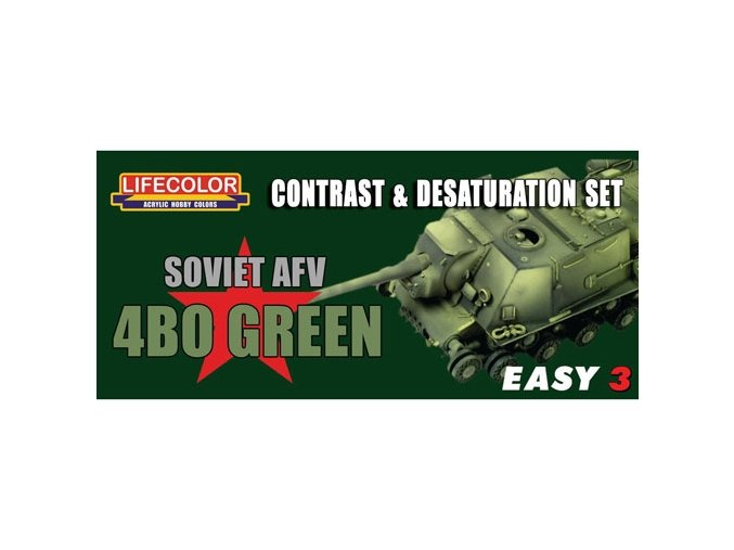 Set kamuflážnych farieb LifeColor MS04 SOVIET AFV 4B0 GREEN