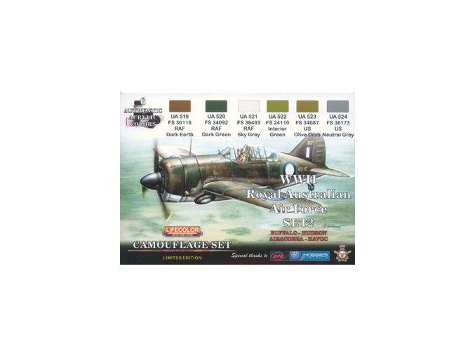 Set kamuflážnych farieb LifeColor XS02 WII Royal Australian Air Force SET2