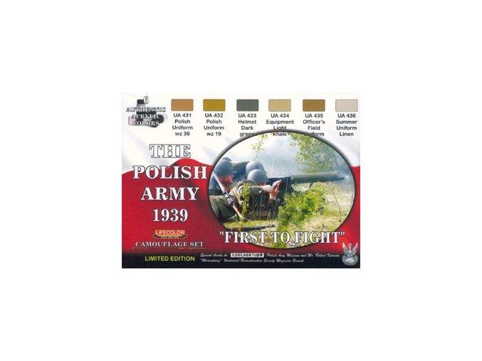 Set kamuflážnych farieb LifeColor XS05 THE POLISH ARMY 1939 FIRST TO FIGHT