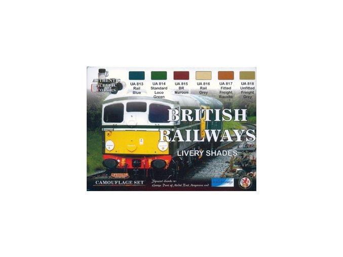 Set kamuflážnych farieb LifeColor XS06 BRITISH RAILWAYS LIVERY SHADES