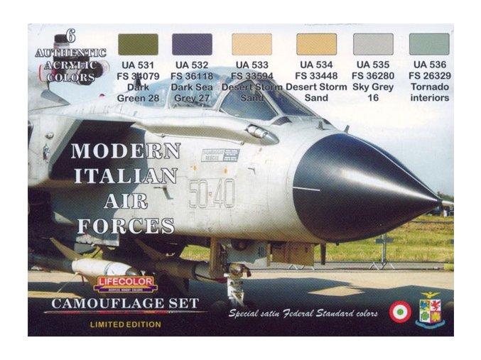 Set kamuflážnych farieb LifeColor XS07 MODERN ITALIAN AIR FORCES