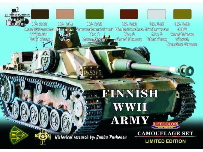 Set kamuflážnych farieb LifeColor XS08 FINNISH WWII ARMY