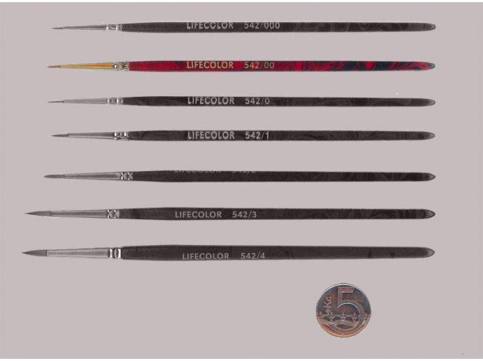 542-00 Okrúhly štetec LifeColor Pure red sable s krátkym vlasom