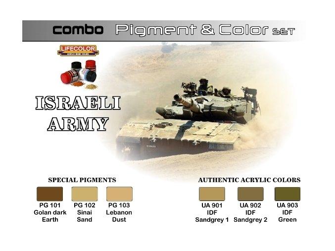 Set pigmentov a farieb LifeColor SPG01 ISRAELI ARMY