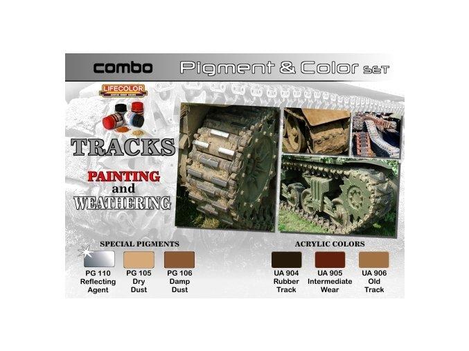 Set pigmentov a farieb LifeColor SPG02 TRACKS