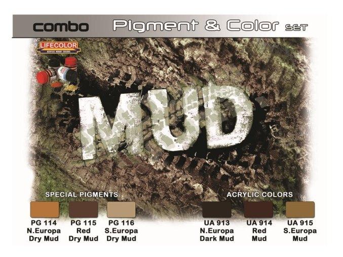 Set pigmentov a farieb LifeColor SPG05 MUD