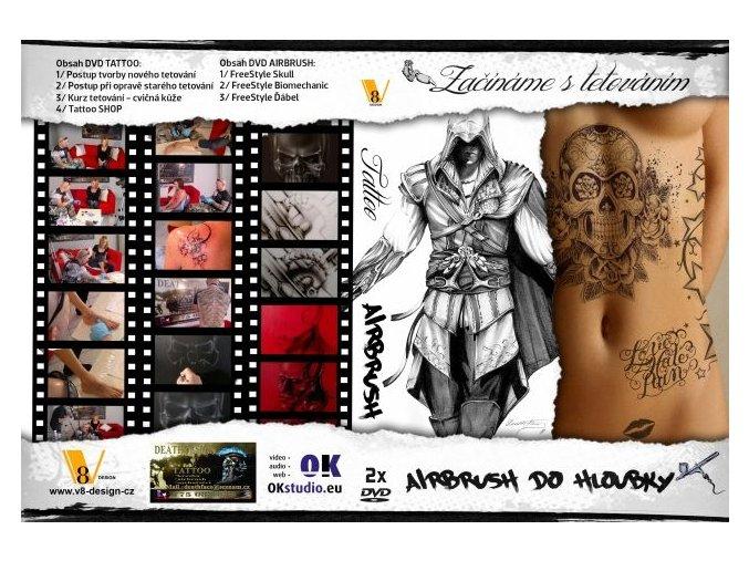 DVD komplet- Začíname s tetovaním+ airbrush do hĺbky
