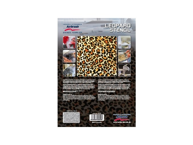 Airbrush šablóna- leopard
