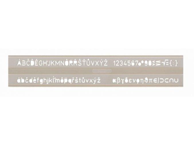 Šablona pismena UKO-E 7mm