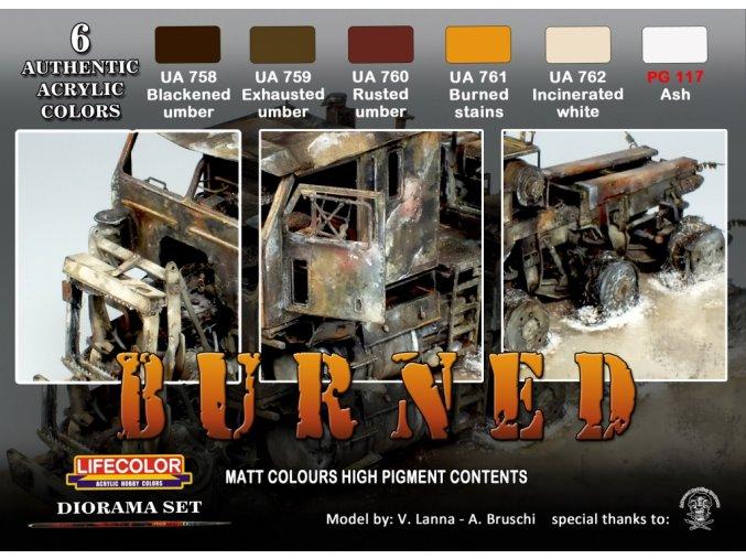 Set kamuflážnych farieb LifeColor CS29 BURNED