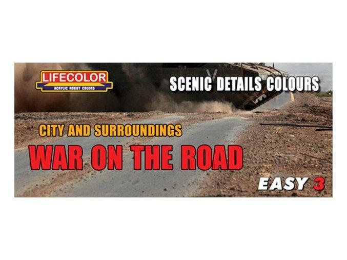 Set kamuflážnych farieb LifeColor MS09 WAR ON THE ROAD