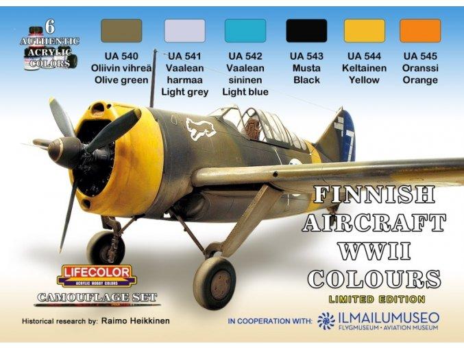 Set kamuflážnych farieb LifeColor XS09 Finnish Aircraft WWII