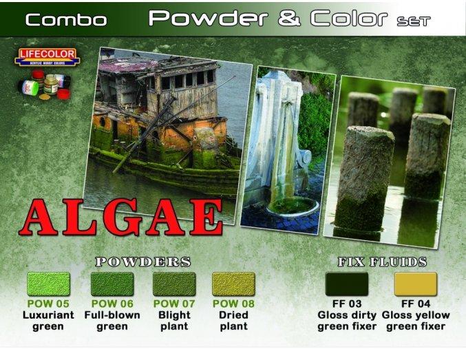 Set pigmentov a farieb LifeColor SPG07 ALGAE