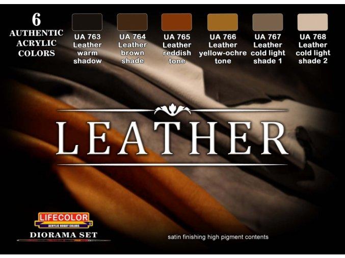 Set kamuflážnych barev LifeColor CS30 LEATHER