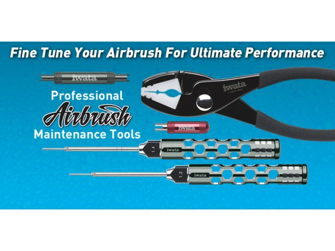Nástroje pre údržbu airbrush pištolí