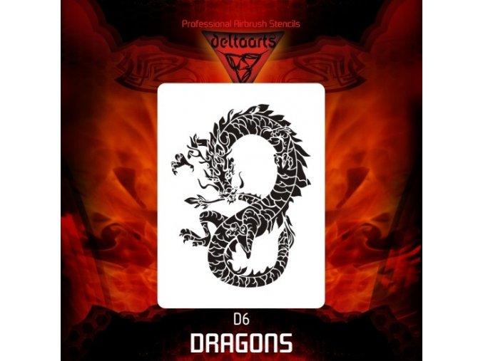 airbrush šablóna dragons d6