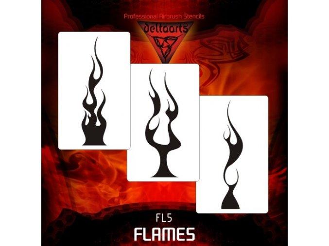 airbrush šablóna plamene FL5