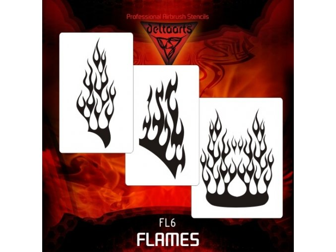 airbrush šablóna plamene FL6