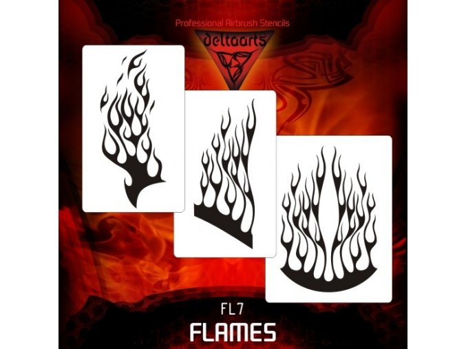 airbrush šablóna plamene FL7
