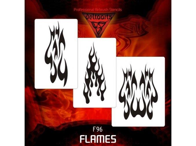 airbrush šablóna plamene FL9