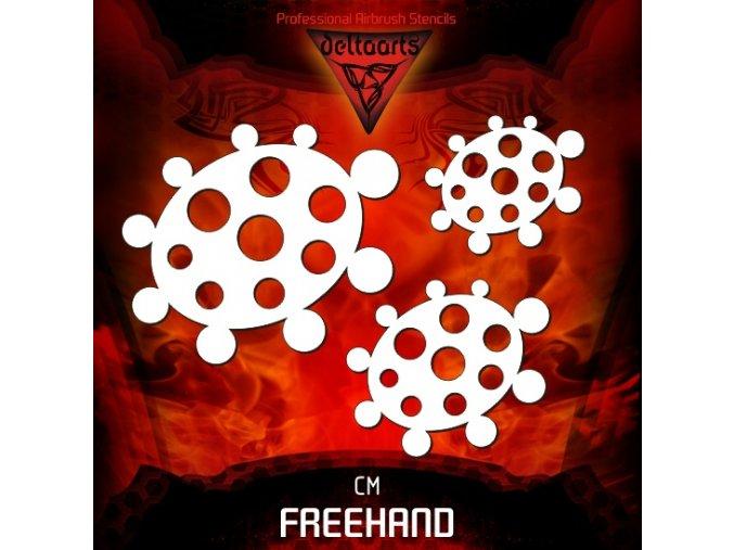 airbrush šablóna freehand circle master set cm