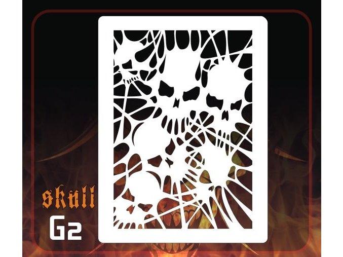 Airbrush šablona Group of skulls g2