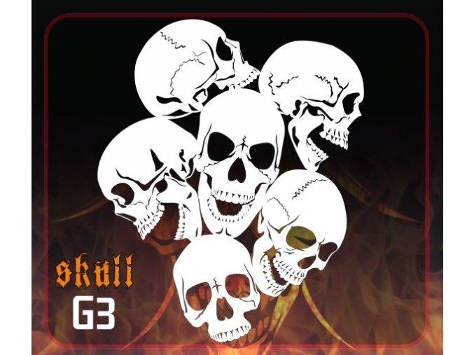 Airbrush šablona Group of skulls g3 mini