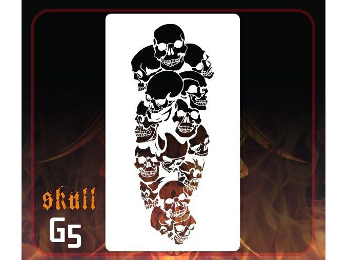 Airbrush šablona Group of skulls g5 mini