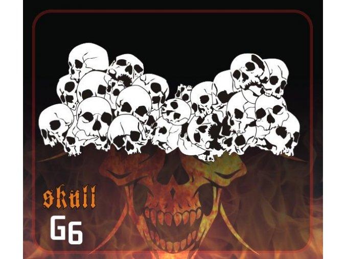 Airbrush šablona Group of skulls g6