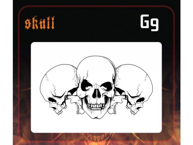 Airbrush šablona Group of skulls g9