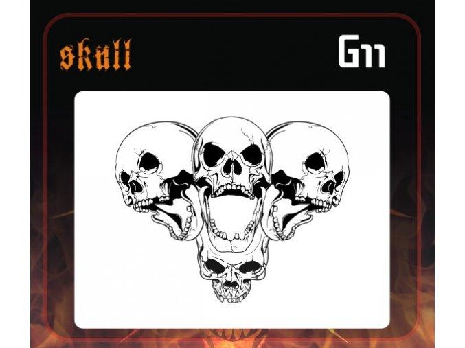 Airbrush šablona Group of skulls g11
