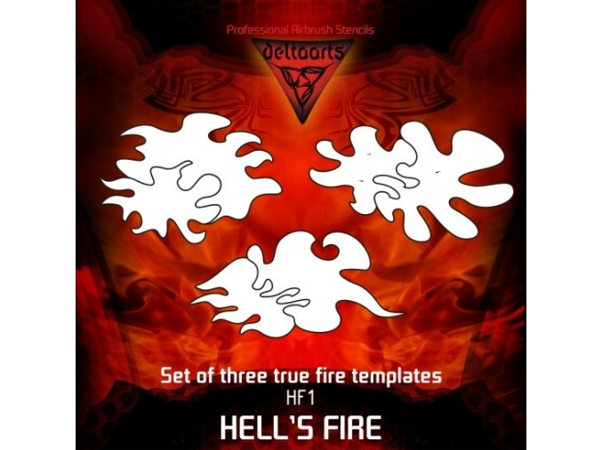 Airbrush šablona True fire hf1-mid