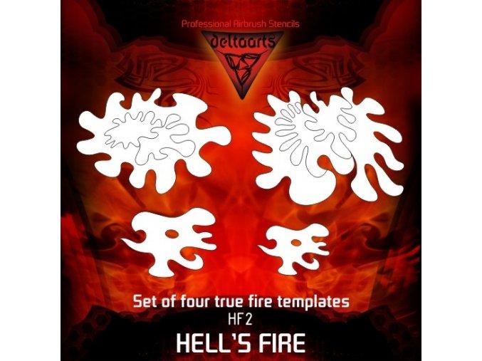 Airbrush šablona True fire hf2 mid