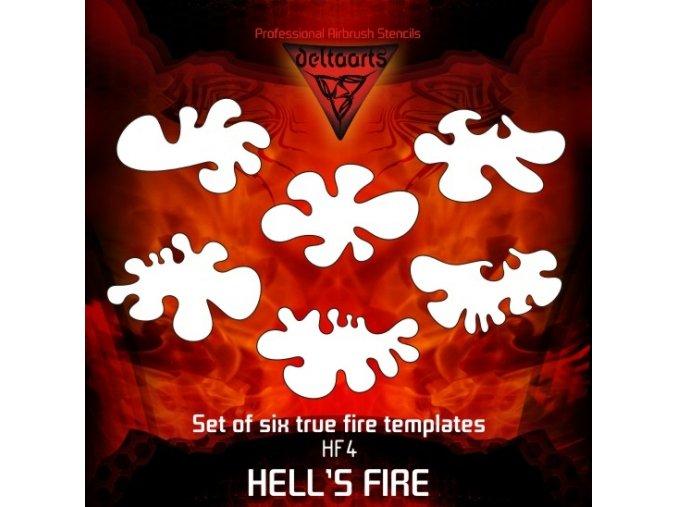 Airbrush šablona True fire hf4