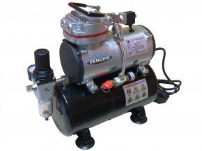 Mini kompresor s tlakovou nádobou Fengda AS-189