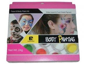 Paleta Body- face Painting 8ks/2g