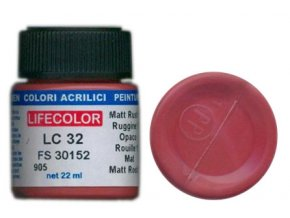 Farba LifeColor LC32 basic matt rust 1